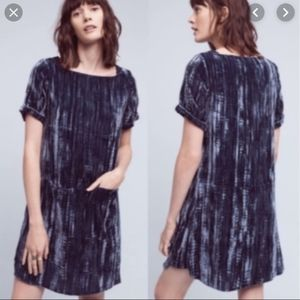 Anthropologie Floreat Crinkled Velvet Tunic